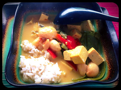 Lychees are not just for dessert!.....Vegan Coconut-Lychee Curry!