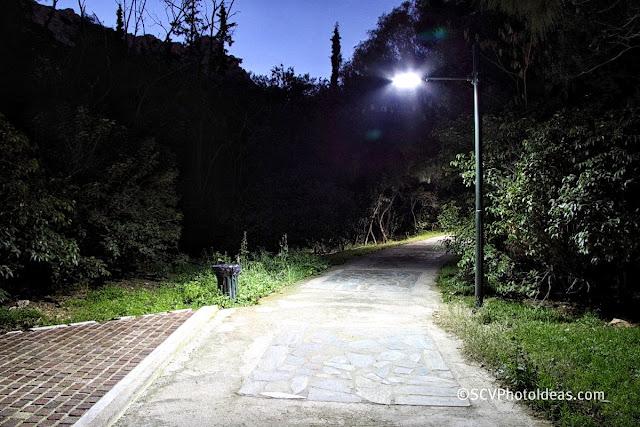 NIghtfall in the park - streetlight