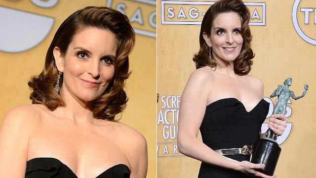 Tina Fey - Celebrity Earrings Trend 2013