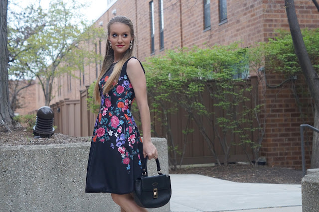 floral spring style dress