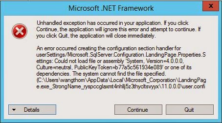 how to fix unhandled exception has occurred in your application