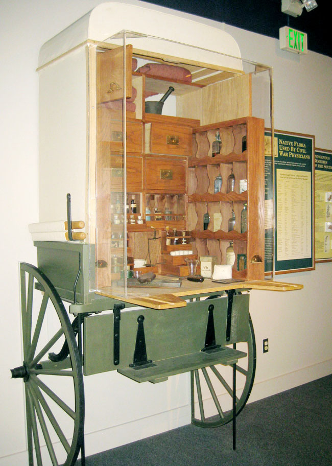 The autenrieth wagon, a surgical wagon full of medicines used during the civil war.