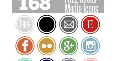 Free Social Media Icons in 12 Colours