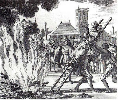 Witch burnt at the stake