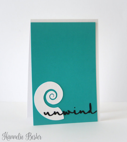 unwind : beach inspired card