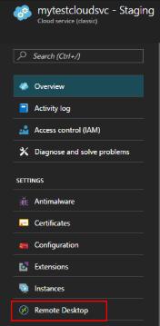 Configurer le Bureau à distance à partir du portail Azure