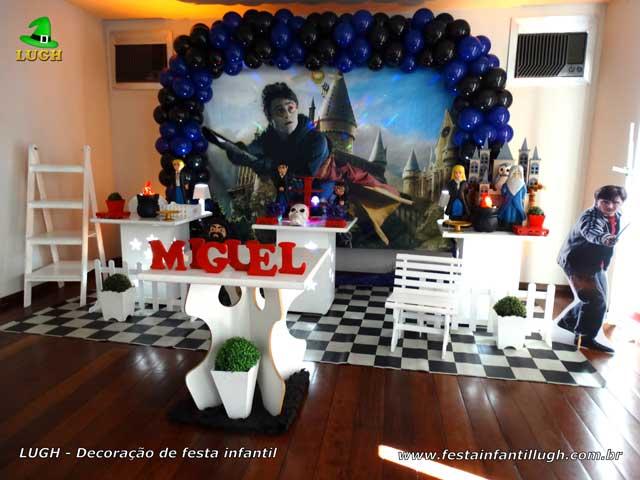 Decoração de aniversário tema Harry Potter para festa infantil - Recreio - RJ