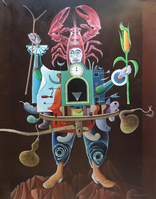 Rovira Brull pintura surrealista scarecrow
