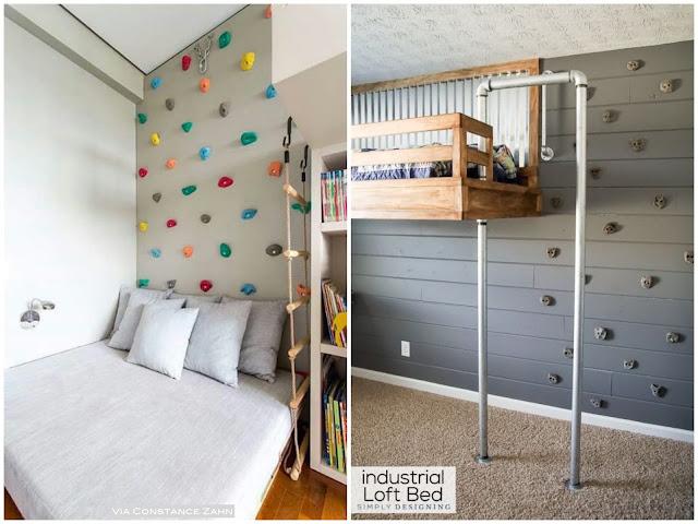parede de escalada para criança