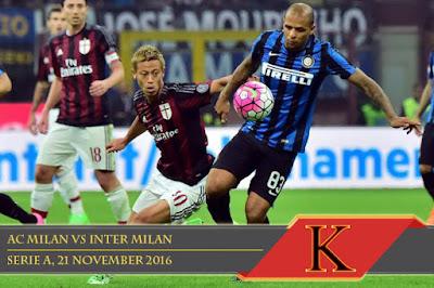 Prediksi Skor AC Milan vs Inter Milan 21 November 2016