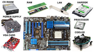 Bagian bagian Komponen utama komputer dan fungsinya