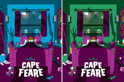 The Simpsons Screen Prints by Florey x Bottleneck Gallery x Acme Archives x Dark Ink Art - Cape Feare