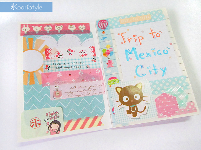 Handmade, Cute, KooriStyle, Koori Style, Koori Style, Paper, Planner, Journal, Agenda, Goodies, Goods, Washi Tape, Stationery, Scrapbooking, Travel, Mexico City, Decoration, Tour, Kawaii, stickers, decoracion, viaje, pegatinas, calcomanias, diary, diario, deco tape
