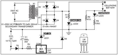 electronika: Rangkaian Baterai Chargers HP