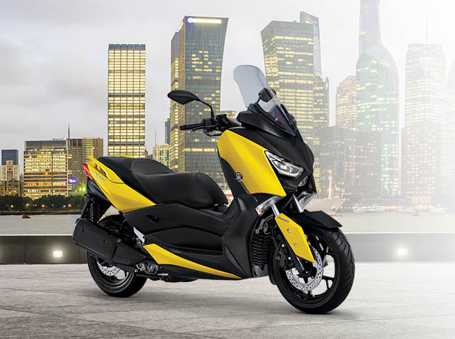 Yamaha XMAX warna racing yellow