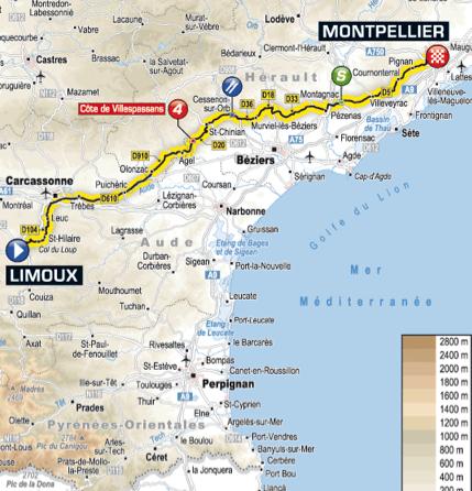Limoux France Map.Tour Travel Tour De France Stage 15 Pedal Dancer