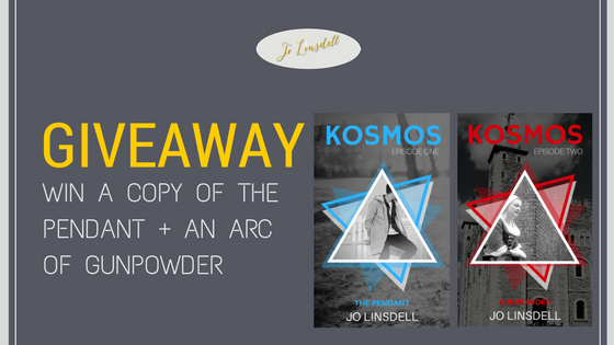 #Giveaway: Win a copy of The Pendant + an ARC of Gunpowder #KOSMOS