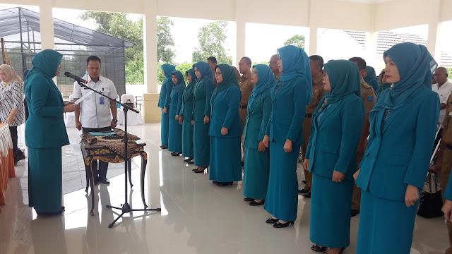Lindasari Iskandar Lantik Ketua PKK 12 Kecamatan