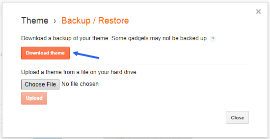 backup blogger template