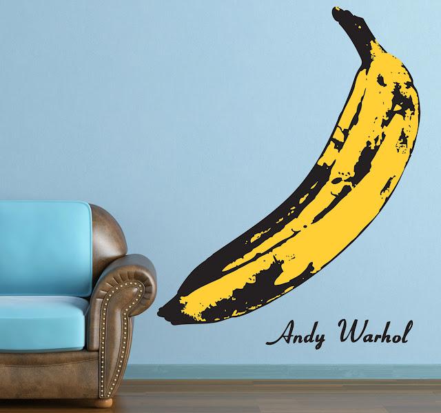 muursticker banaan Andy Warhol