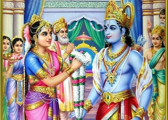 श्री राम ने एक ही हाथ से धनुष उठा लिया