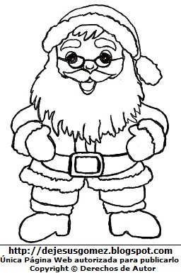 Dibujo: Papa Noel o Santa Claus para colorear, pintar e imprimir. Dibujo de Papa Noel de Jesus Gómez