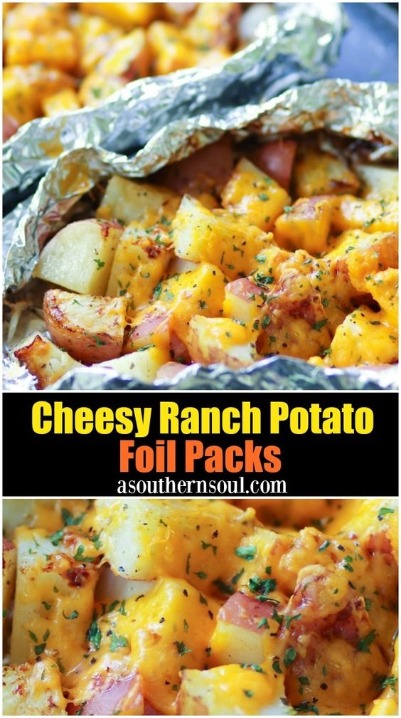 Cheesy Ranch Potato Foil Packs
