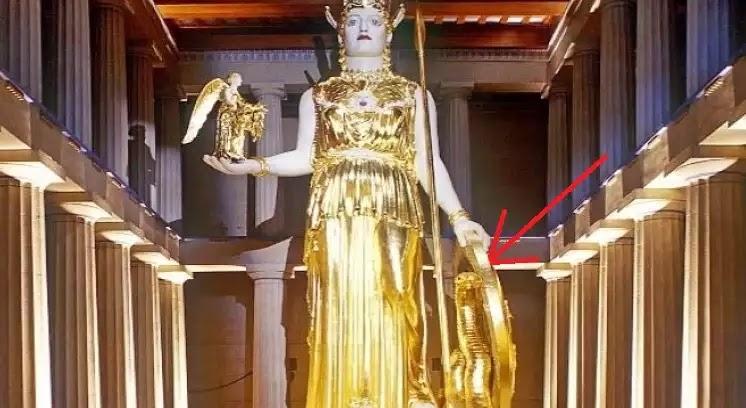 O «δράκοντας» (όφις) παρά τους πόδας της θεάς Αθηνάς και ο συμβολισμός του