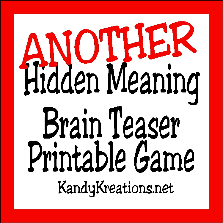 photograph relating to Printable Brain Games identify Do it yourself Celebration Mother: A further Concealed Which means Intellect Teaser Video game