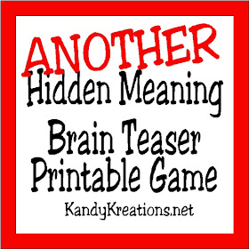 Brain Teasers are a great way to challenge the brain and have a little fun. Check out this printable brain teaser game with the answers that you an play at your Divergent party or anytime you need a little brain stretch.