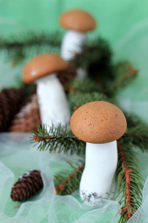 pierniczki grzybki bożonarodzeniowe