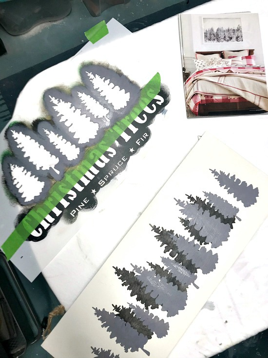 DIY Shades of Grey Christmas Trees. Homeroad.net