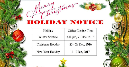 KPC Business Centre – HOLIDAY NOTICE: Merry Christmas & Happy New Year 2017