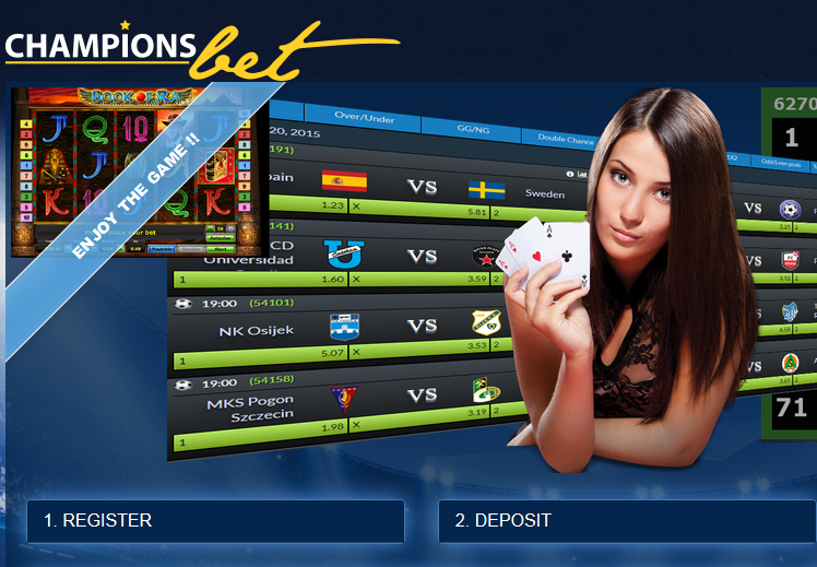 Championsbet Casino Screen