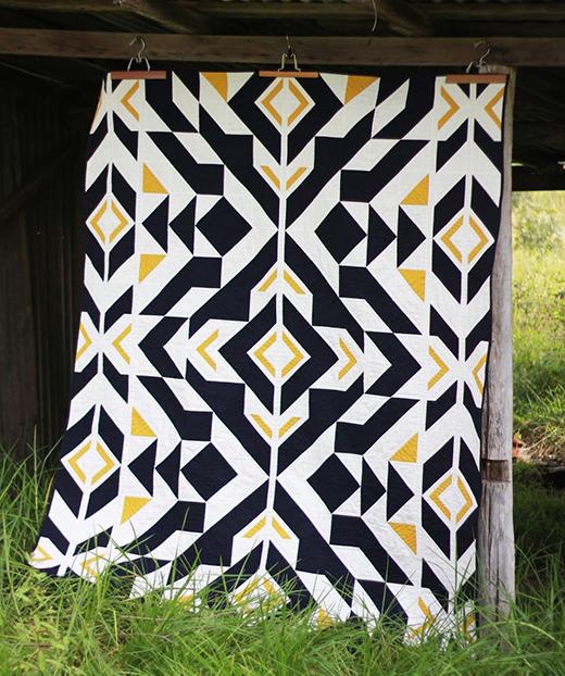 Bravo Indigo Quilt Free Pattern