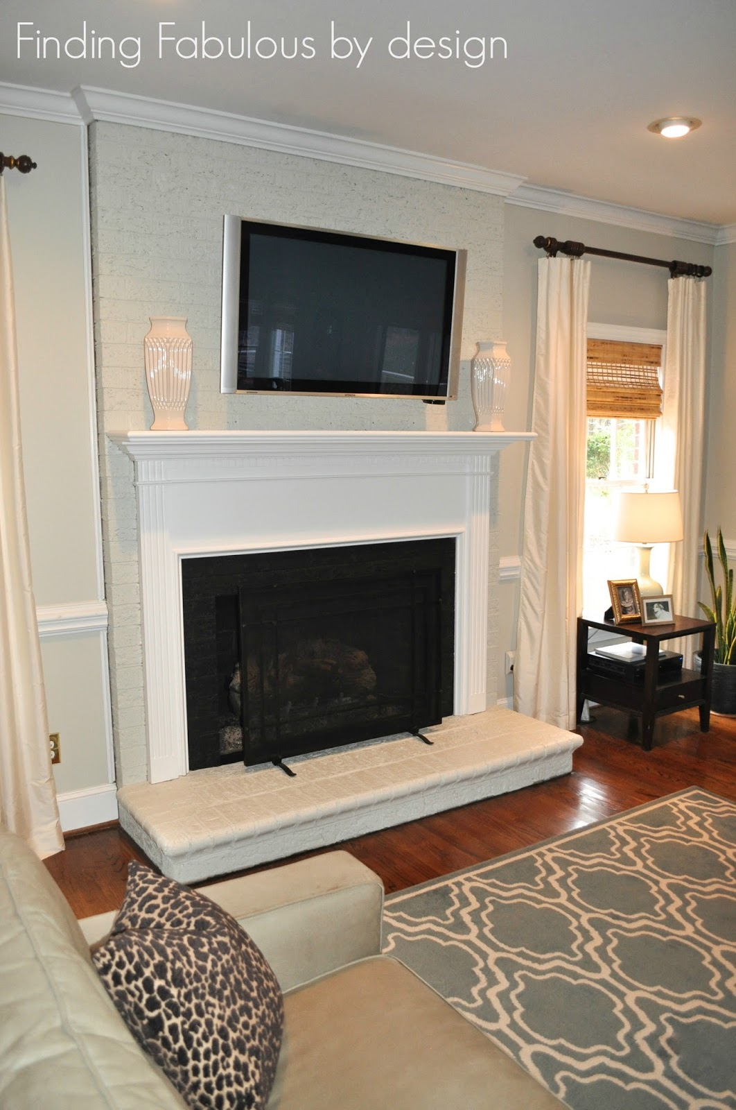 Fabulous By Design Painted Brick Fireplace Amp Family Room