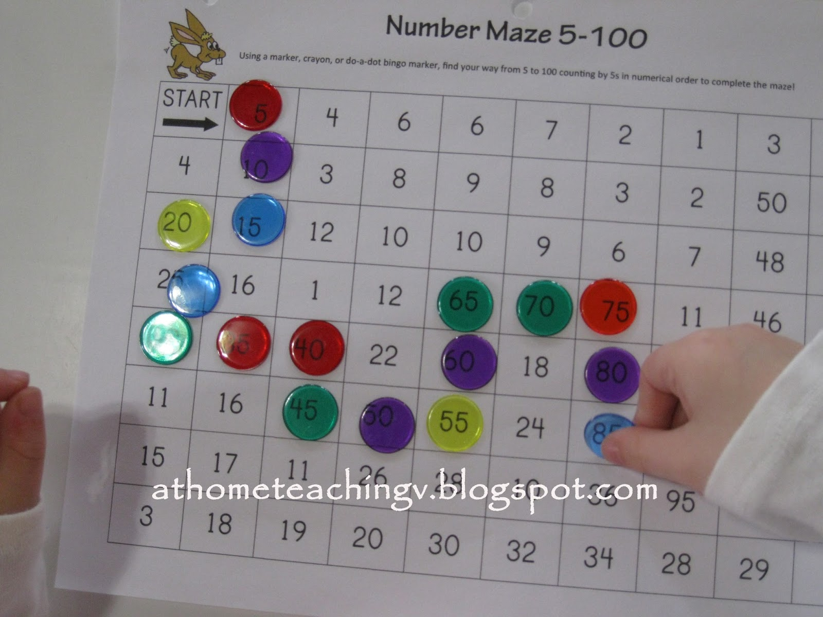 At Home Teaching V Skip Counting By 5s Fun Activities