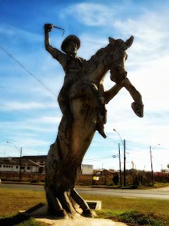 Monumento ao Ginete, em Vacaria