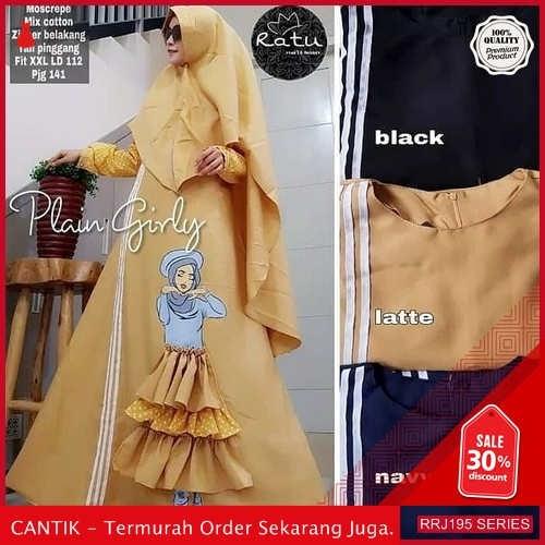 Jual RRJ195D83 Dress Muslim Plain Wanita Girly Syari Sk BMGShop