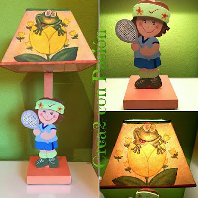Lámpara-Handmade-tenista-y-decoupage-crea2conpasion
