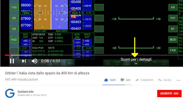 Player YouTube con voce Scorri per i dettagli in modalità video a schermo intero