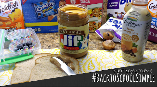 #BacktoSchoolSimple lunches with the help of Giant Eagle