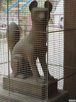 福島天満宮吉高稲荷神社の白狐
