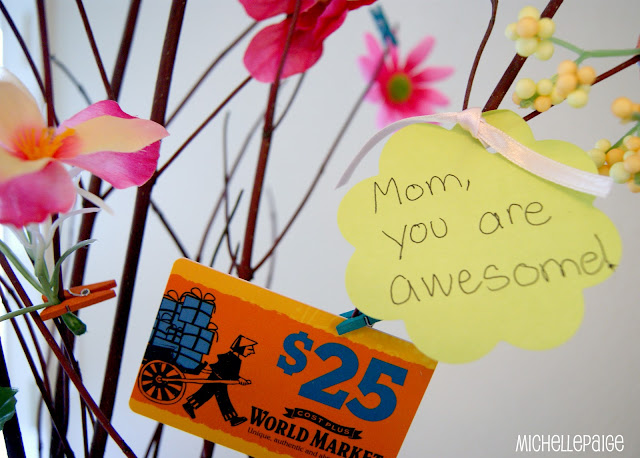 Awesome Mom Gift Card Tree