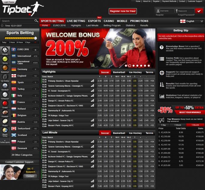 Tipbet Screen