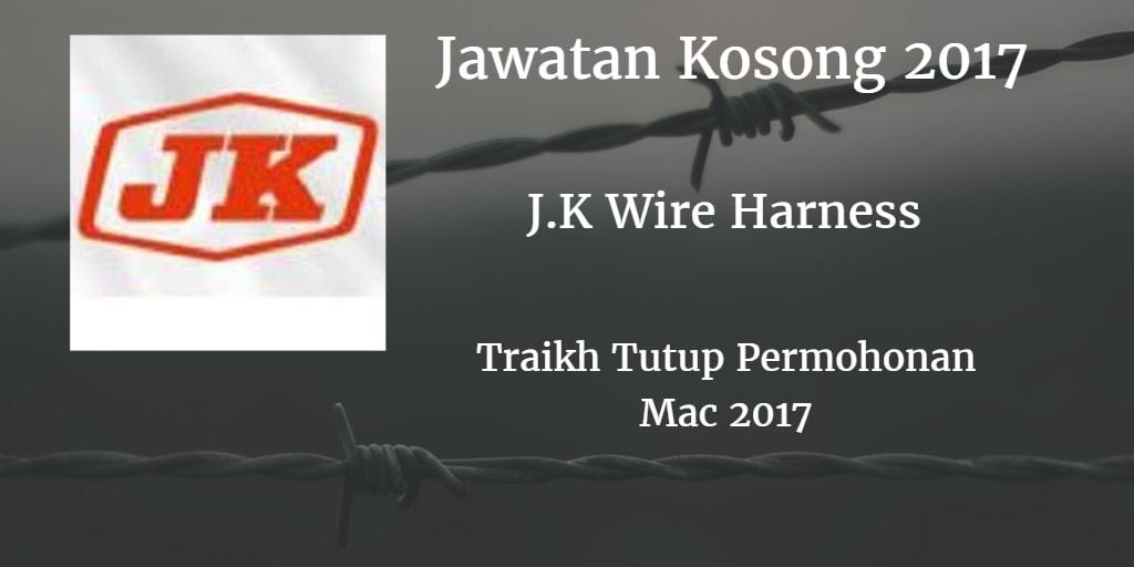 Jawatan Kosong  J.K Wire Harness Sdn Bhd Mac 2017