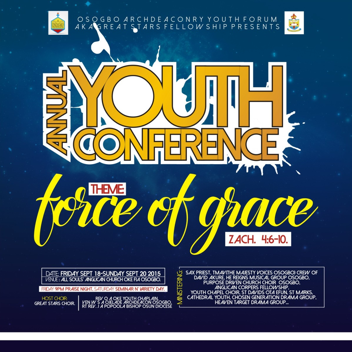 i will design a church youth program flyer you welcome to ug tech