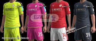 Kits Barnsley 2016-2017 Pes 2013