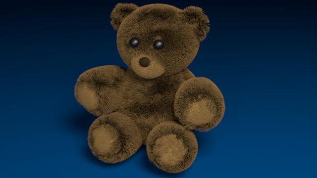Teddy Bear Graphics Design Using Blender 2.7