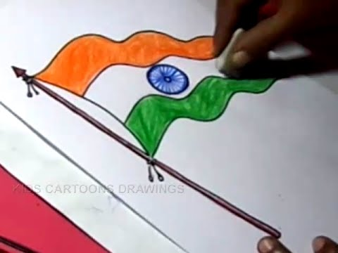 Indian Flag Drawing 2017